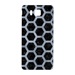 Hexagon2 Black Marble & Silver Paint (r) Samsung Galaxy Alpha Hardshell Back Case by trendistuff