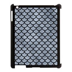 Scales1 Black Marble & Silver Paint Apple Ipad 3/4 Case (black) by trendistuff