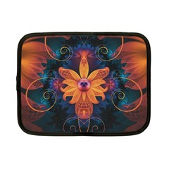 Beautiful Fiery Orange & Blue Fractal Orchid Flower Netbook Case (small)  by beautifulfractals