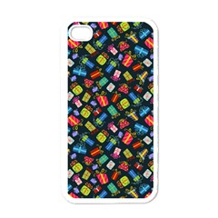 Christmas Pattern Apple Iphone 4 Case (white) by tarastyle
