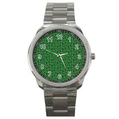 Christmas Pattern Sport Metal Watch by tarastyle