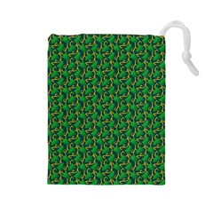Christmas Pattern Drawstring Pouches (large)  by tarastyle