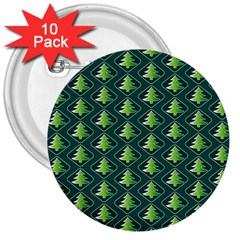 Christmas Pattern 3  Buttons (10 Pack)  by tarastyle