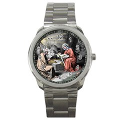 The Birth Of Christ Sport Metal Watch by Valentinaart