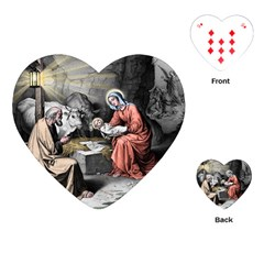 The Birth Of Christ Playing Cards (heart)  by Valentinaart