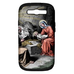 The Birth Of Christ Samsung Galaxy S Iii Hardshell Case (pc+silicone) by Valentinaart
