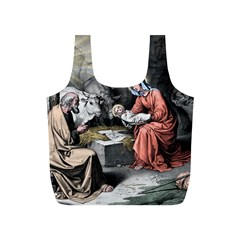 The Birth Of Christ Full Print Recycle Bags (s)  by Valentinaart