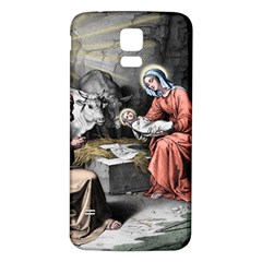 The Birth Of Christ Samsung Galaxy S5 Back Case (white) by Valentinaart