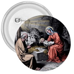 The Birth Of Christ 3  Buttons by Valentinaart