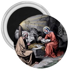 The Birth Of Christ 3  Magnets by Valentinaart