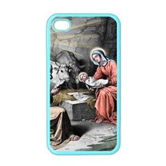 The Birth Of Christ Apple Iphone 4 Case (color) by Valentinaart