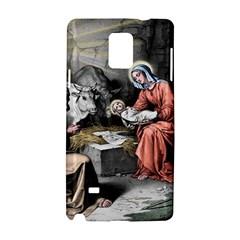The Birth Of Christ Samsung Galaxy Note 4 Hardshell Case by Valentinaart