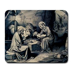 The Birth Of Christ Large Mousepads by Valentinaart