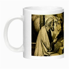 The Birth Of Christ Night Luminous Mugs by Valentinaart