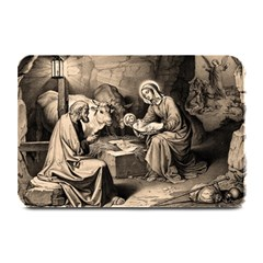 The Birth Of Christ Plate Mats by Valentinaart