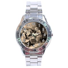 The Birth Of Christ Stainless Steel Analogue Watch by Valentinaart