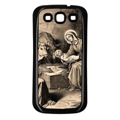 The Birth Of Christ Samsung Galaxy S3 Back Case (black) by Valentinaart