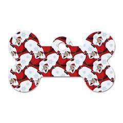 Christmas Pattern Dog Tag Bone (one Side) by tarastyle
