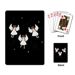 Christmas Angels  Playing Card by Valentinaart