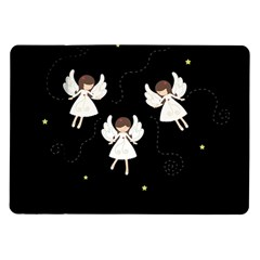 Christmas Angels  Samsung Galaxy Tab 10 1  P7500 Flip Case by Valentinaart