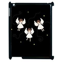 Christmas Angels  Apple Ipad 2 Case (black) by Valentinaart