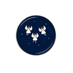 Christmas Angels  Hat Clip Ball Marker by Valentinaart