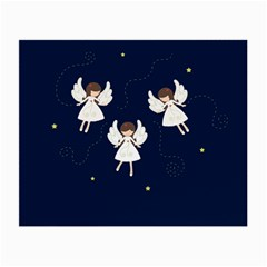 Christmas Angels  Small Glasses Cloth (2 Side) by Valentinaart
