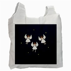 Christmas Angels  Recycle Bag (two Side)  by Valentinaart