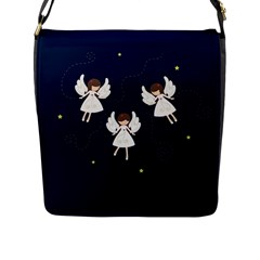 Christmas Angels  Flap Messenger Bag (l)  by Valentinaart