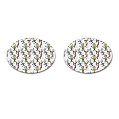 Christmas Pattern Cufflinks (oval) by tarastyle