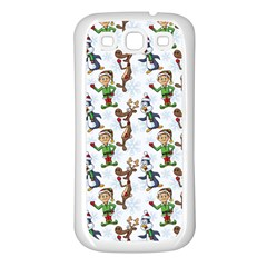 Christmas Pattern Samsung Galaxy S3 Back Case (white) by tarastyle