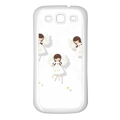 Christmas Angels  Samsung Galaxy S3 Back Case (white) by Valentinaart