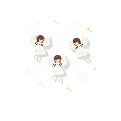Christmas Angels  Shower Curtain 48  X 72  (small)  by Valentinaart