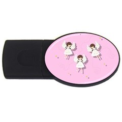 Christmas Angels  Usb Flash Drive Oval (2 Gb) by Valentinaart