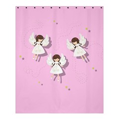 Christmas Angels  Shower Curtain 60  X 72  (medium)  by Valentinaart