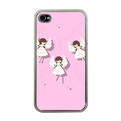 Christmas Angels  Apple Iphone 4 Case (clear) by Valentinaart