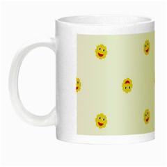 Happy Sun Motif Kids Seamless Pattern Night Luminous Mugs by dflcprintsclothing