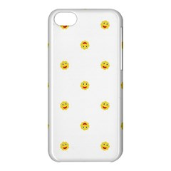 Happy Sun Motif Kids Seamless Pattern Apple Iphone 5c Hardshell Case by dflcprintsclothing