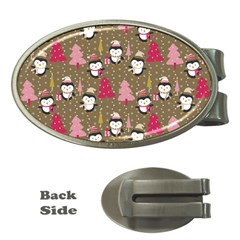 Christmas Pattern Money Clips (oval)  by tarastyle