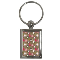 Christmas Pattern Key Chains (rectangle)  by tarastyle