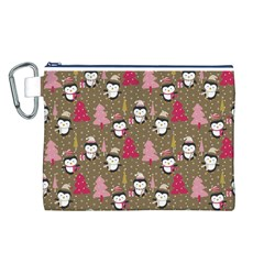 Christmas Pattern Canvas Cosmetic Bag (l) by tarastyle