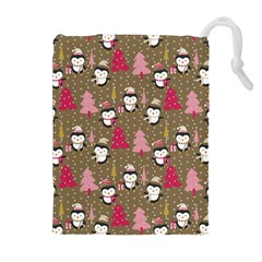 Christmas Pattern Drawstring Pouches (extra Large) by tarastyle