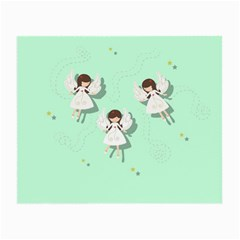 Christmas Angels  Small Glasses Cloth by Valentinaart