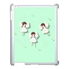 Christmas Angels  Apple Ipad 3/4 Case (white) by Valentinaart