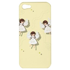 Christmas Angels  Apple Iphone 5 Hardshell Case by Valentinaart