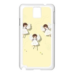 Christmas Angels  Samsung Galaxy Note 3 N9005 Case (white) by Valentinaart