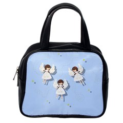 Christmas Angels  Classic Handbags (one Side) by Valentinaart