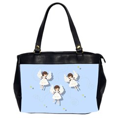 Christmas Angels  Office Handbags (2 Sides)  by Valentinaart
