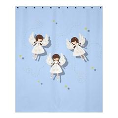 Christmas Angels  Shower Curtain 60  X 72  (medium)  by Valentinaart