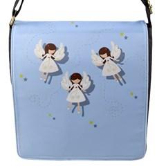 Christmas Angels  Flap Messenger Bag (s) by Valentinaart